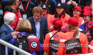 Prince Harry - Virgin Money London Marathon 2015 - London, United Kingdom - Sunday 26th April 2015