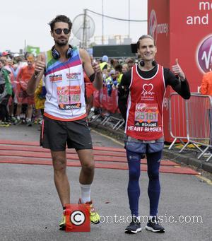 Oliver Proudlock and Hugo Taylor - Virgin Money London Marathon 2015 - Photocall at blackheath - London, United Kingdom -...