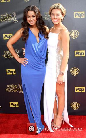 Tracey Edmonds and Charissa Thompson - The 42nd Daytime Emmy Awards held at Warner Brothers Studios in Burbank, California at...