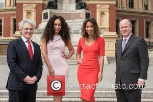 John Suchet, Rebecca Ferguson, Myleene Klass and Randolph Churchill