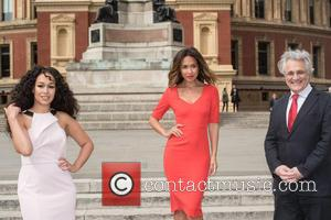 Myleene Klass, Rebecca Ferguson and John Suchet