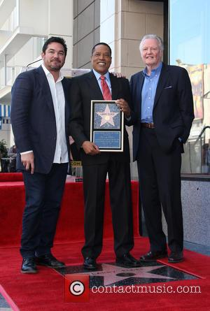Dean Cain, Larry Elder and Jon Voight - Larry Elder receives a star on the Hollywood Walk of Fame at...