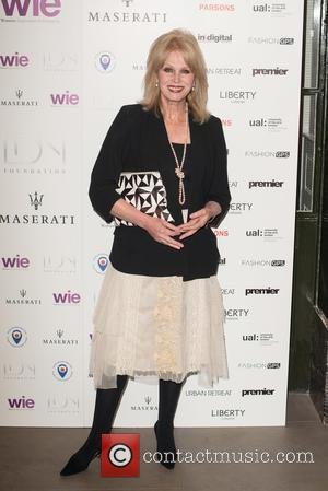 Joanna Lumley - LDNY fashion show and WIE Award Gala held at Goldsmiths' Hall - Arrivals. - London, United Kingdom...