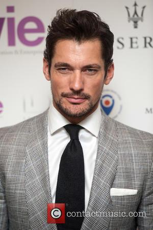 David Gandy - LDNY fashion show and WIE Award Gala held at Goldsmiths' Hall - Arrivals. - London, United Kingdom...