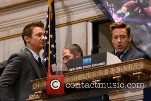 Jeremy Renner and Robert Downey Jr.