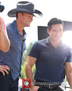 Tim McGraw and Mario Lopez