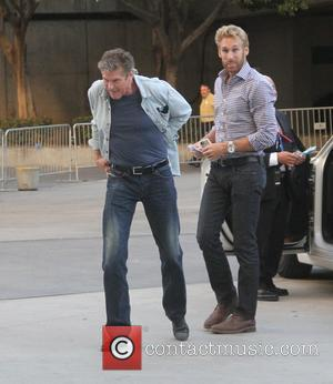 David Hasselhoff - David Hasselhoff takes a friend to the Staples Center in Los Angeles at Staples Center - Los...