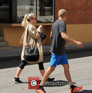 Ashlee Simpson and Evan Ross - Pregnant Ashlee Simpson and Evan Ross leaving the gym after a workout - Los...