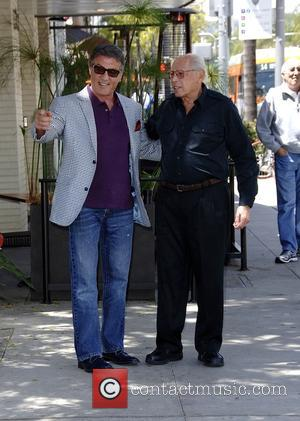 American actor Sylvester Stallone, who is best known for his roles as Rocky Balboa in the 'Rocky' movie series and...