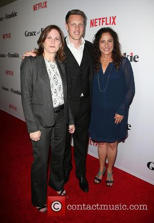 Dana Goldberg, David Ellison and Marcy Ross