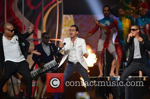 Marc Anthony and Gente de Zona - 2015 Billboard Latin Music Awards presented by State Farm on Telemundo - Show...