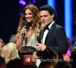 Gaby Espino and Pedro Fernandez - 2015 Billboard Latin Music Awards presented by State Farm on Telemundo - Show at...