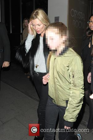 Kate Moss and Lila Grace Moss - VIP screening of 'Pitch Perfect 2' at May Fair Hotel - Departures -...