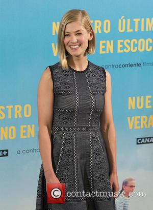 British film actress Rosamund Pike was snapped as she attended a photocall for the film 'What We Did on Our...