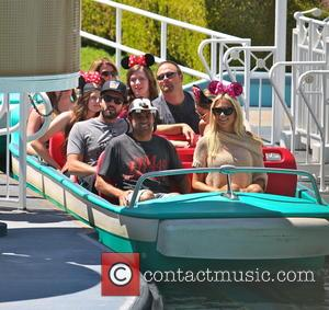 Brody Jenner and Kaitlynn Carter - Brody Jenner spends the day at Disneyland with girlfriend, Kaitlynn Carter and friends at...