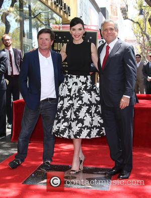 Michael J. Fox, Julianna Margulies and Leslie Moonves