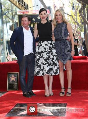 Michael J. Fox, Julianna Margulies and Tracy Pollan