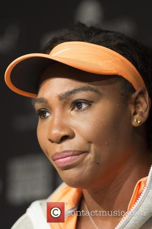 Serena Williams - Serena Williams attends a press conference at the Magic Box during the Mutua Madrid Open at Magic...