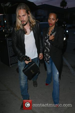 Zoe Saldana and Marco Perego Saldana - Zoe Saldana and Marco Perego Saldana seen arriving at Craig's restaurant together. -...