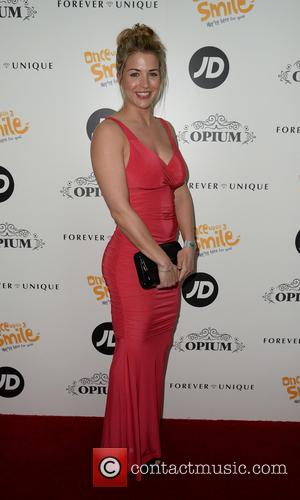 Gemma Atkinson - Once Upon A Smile Grand Ball 2015 at The Hilton Hotel, Manchester - Arrivals - Manchester, United...