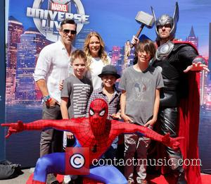 Eddie Cibrian and Leann Rimes - Marvel Universe LIVE! 2015 - Arrivals at The Forum - Inglewood, California, United States...