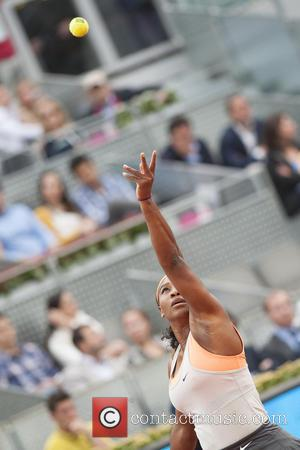 Serena Williams - Serena Williams v Sloane Stephens in their second round match during day three of the Mutua Madrid...