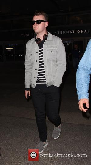 Sam Smith - Sam Smith at Los Angeles International Airport (LAX) at LAX - Los Angeles, California, United States -...