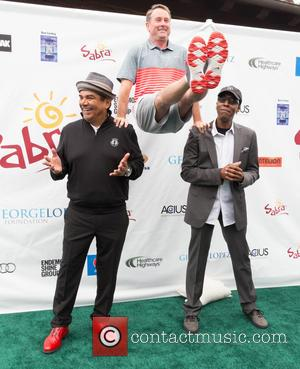 George Lopez, Michael G. Wilson and Arsenio Hall