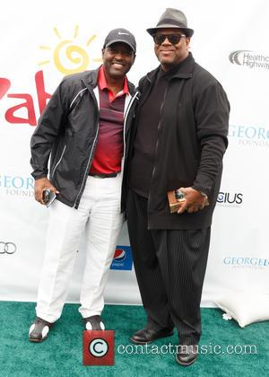 Johnny Gill and Jimmy Jam - The eighth annual George Lopez Celebrity Golf Classic presented by Sabra - Arrivals at...