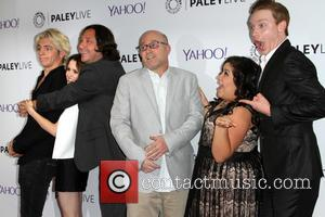 Co-creator/Producer Heath Seifert, Laura Morano, Ross Lynch, Calum Worthy, Raini Rodriguez and Co-creator/Producer Kevin Kopelow