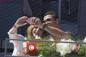 Cristiano Ronaldo - Mutua Madrid Open Tennis Tournament - Day 6 - Celebrity Sightings - Madrid, Spain - Thursday 7th...