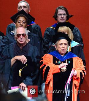 Jimmy Buffett and Donna E. Shalala