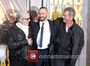 Director George Miller, Tom Hardy and Mel Gibson