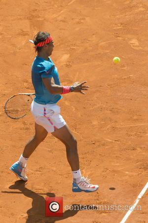 Rafael Nadal - Mutua Madrid Open Tennis Tournament - Day 7 - Rafael Nadal of Spain in action against Grigor...