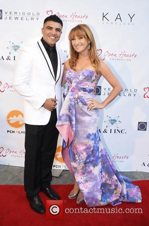 Victor Ortiz and Jane Seymour - 5th Annual Open Hearts Foundation Gala held at a private residence - Arrivals at...