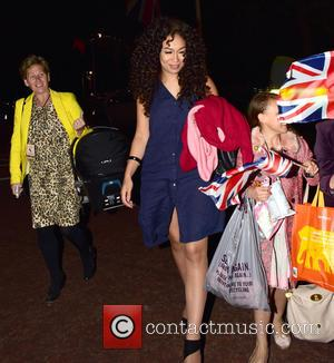 Rebecca Ferguson - Celebrities leave the Horse Guards Parade after attending a 1940s-themed concert as part of 70th anniversary commemorations...