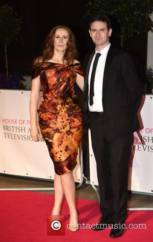 Catherine Tate and Guest - House of Fraser British Academy (BAFTA) Television Awards held at the Theatre Royal - Afterparty....