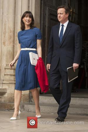 Samantha Cameron and David Cameron - Members of the Royal family and politicians attends a service at Westminster Abbey to...