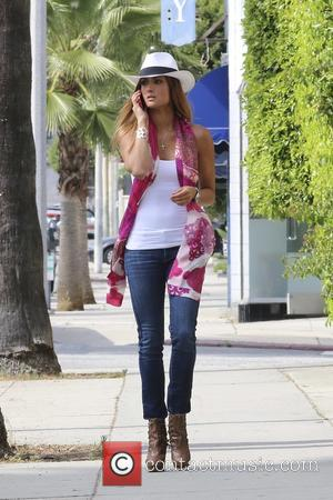 Katie Cleary - Katie Cleary leaving Indulge House Beverly Hills gifting house. Katie was wearing David & Young hats and...