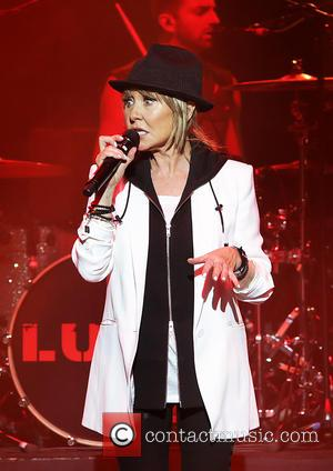 Shots of Scottish singer Lulu as she performed live on stage at the Philharmonic Hall in Liverpool, United Kingdom -...