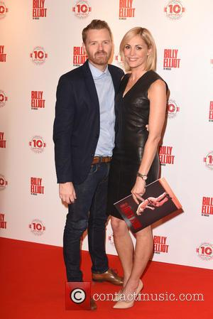 Jenni Falconer and Guest - Billy Elliot the musical 10th Anniversary at the Victoria Palace Theatre - Arrivals. at Palace...