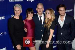 Jamie Lee Curtis, Lea Michele and Ryan Murphy