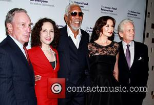 Michael Bloomberg, Bebe Neuwirth, Morgan Freeman, Catherine Zeta-jones and Michael Douglas
