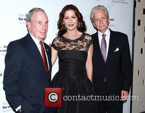 Michael Bloomberg, Catherine Zeta-Jones and Michael Douglas