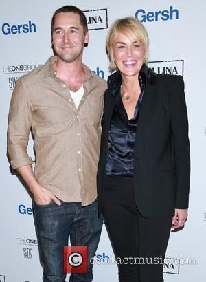Ryan Eggold and Sharon Stone