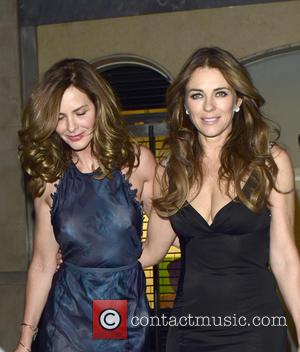 Elizabeth Hurley and Trinny Woodall - Celebrities at Claridge's hotel in Mayfair at w1 - London, United Kingdom - Wednesday...