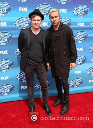 Patrick Stump and Pete Wentz - A variety of stars were photographed as they arrived for the 2015 American Idol...