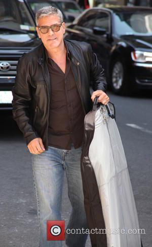 George Clooney - A variety of stars were photographed as they arrived to Ed Sullivan Theater ahead of their interviews...