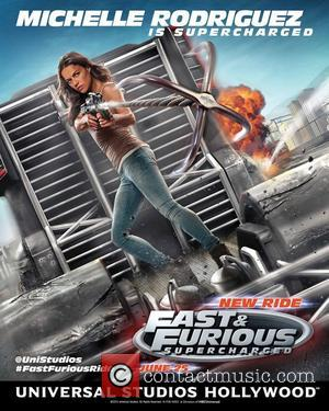 Michelle Rodriguez - The 'Road to Fast' campaign continues with a FIRST LOOK poster of Furious 7 star Michelle Rodriguez...