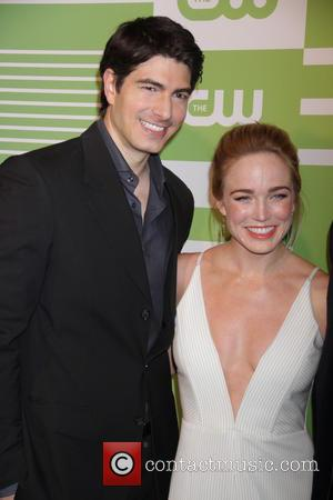 Brandon Routh and Caity Lotz